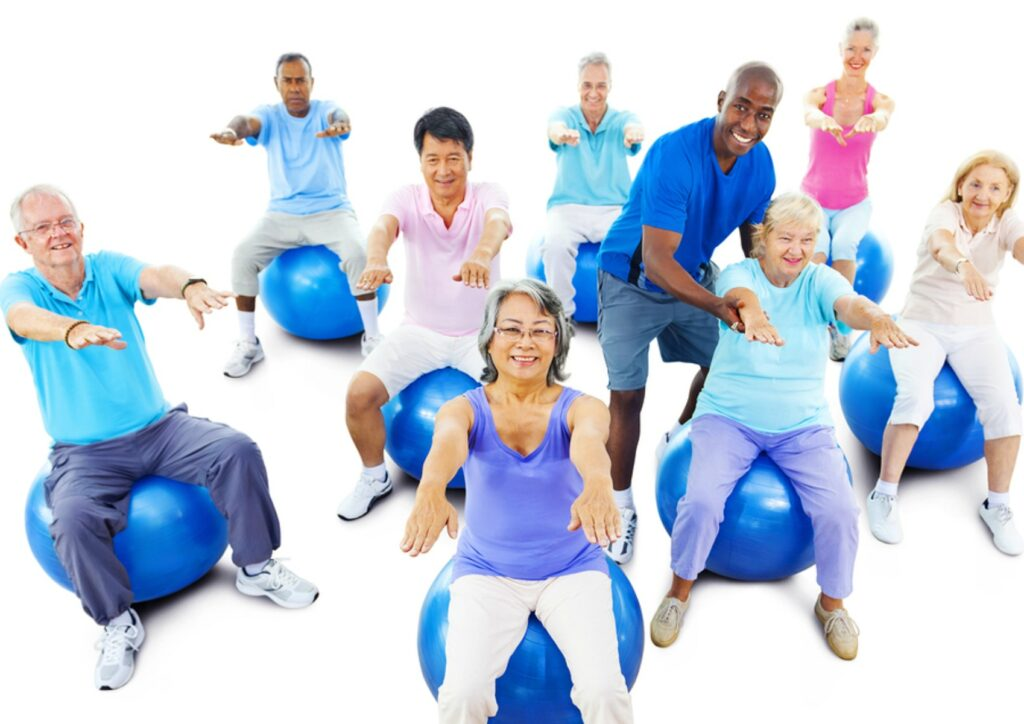 Elder Care in Northbrook IL: Caregiver And Senior Exercise