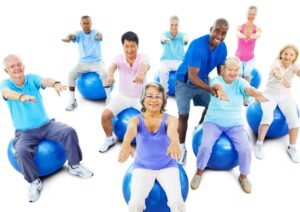 Elder Care in Northbrook IL: Caregiver And Senior Exercise